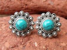 STERLING 925 SILVER STUD TURQUOISE EARRINGS SILVERANDSOUL JEWELLERY