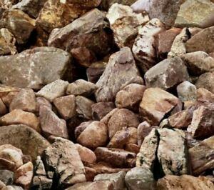 Elizabeth Studio Landscape Medley Rock Boulder Quilt Fabric by the HALF Yard