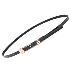 New Women's Ladies Skinny Buckle Waist Belt Thin Leather Narrow Waistband  ZC