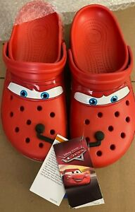 Crocs Classic Clog Lightning McQueen - Size 9 - NEW - Fast Shipping!
