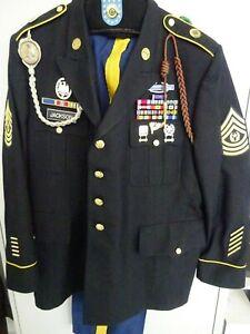 Uniform XXL Blue Dress Top mit Orden  Com. Sergeant Major 14th Military Police B