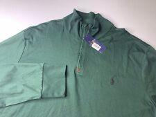 NWT Polo Ralph Lauren Men's Long Sleeve 1/4 Zip Pullover Sweater Lightweight XL