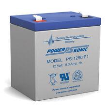 Power-Sonic 12 Volt 5 AH Fire Alarm Battery replaces 4ah Power-Rite PRB124