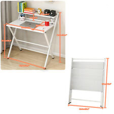 White Willow Computer Desk Laptop Folding Table Study Work Office Home Furniture