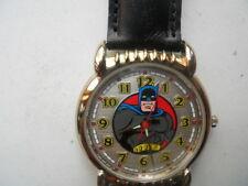 New Batman blk leather Fossil watch.quartz battery water resistant watch.Li-1034