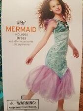 Little Mermaid Princess Ariel Fancy Dress Up Child Halloween Girls Costume 4-6X