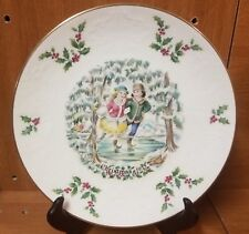 """Royal Doulton Victorian Christmas 1977 plate, 8 1/4"""", England, Excellent"""