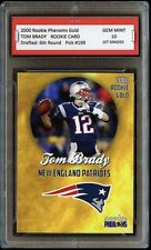 TOM BRADY 2000 PHENOMS GOLD 1ST GRADED 10 ROOKIE CARD RC NEW ENGLAND PATRIOTS