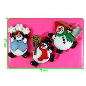 Roly Poly Snowman Christmas Silicone Mould by Fairie Blessings