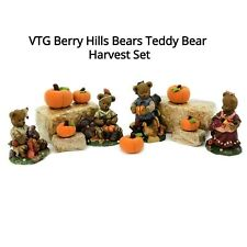 Thanksgiving Harvest Vintage Young's Berry Hills Bears Set Holiday Decoration
