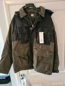 CP COMPANY50  Fili Four Pocket Hooded Goggle Jacket - Olive & Black XXL Rrp:£935