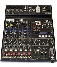 Peavey PV 10AT 10 Ch Mixing Desk Mixer + Auto-Tune + Bluetooth + 2 x USB + FX