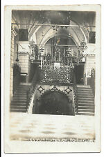 Annunciation Church, Nazareth, Early RP PPC Interior View, Showing Altar c1910
