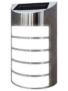 LED Stainless Steel Silver Solar Wall Light Outdoor Security Decoration Lighting