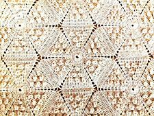 "Beautiful Crocheted Bedspread~Diamond Popcorn Stitch~95""x71"". Vintage."