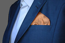 Pale Peach Flesh Natural Satin Pocket Square Handkerchief
