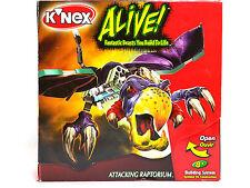 NEW 2004 KNEX Alive! Attacking RAPTORIUM Building System 84 pcs 11012 RAPTOR Fun