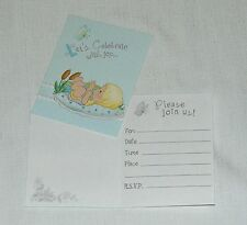 ~PRECIOUS MOMENTS~ BABY BOY  8-INVITATIONS WITH ENVELOPES PARTY SUPPLIES