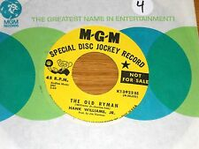 LOT of 3 COUNTRY 45 RPMs - HANK WILLIAMS JR. - MGM 13922 13968 14317