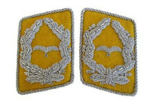 Luftwaffe Flieger Division Major Collar Tabs - Yellow WW2 Repro German Major New
