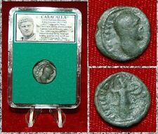 Ancient Roman Empire Coin Of CARACALLA Athena Holding Shield And Spear