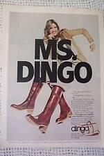 Ms. Dingo Dingo Bottes Cuir Vintage Annonce 1978