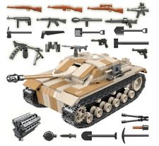 Custom Bricks -  WW2 Soldaten  Stug III mit Figuren LEGO/COBI kompatibel