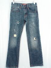 "ARIZONA JEAN CO Jeans 12R 26"" Inseam Distressed Med Wash Straight Leg #198"