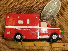Cannon Falls Red Ambulance Emergency Vehicle With Wreath On Front Ornament NWT