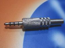 "10 pcs 1/8"" 4-Pole 3.5mm Male Repair Headphone Jack Plug Audio Soldering adapter"