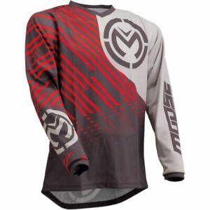 Moose Racing S20 Qualifier MX Motocross Off Road Jersey - Charcoal Grey Red
