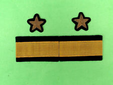 Genuine USSR Army Marine Force Officer's Sleeve Patches Set (Captain 1st Rank).