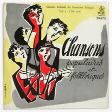 """FRENCH SCOUT CHOIR chansons populaires folkloriques vol.2 erato LDE 1026 7"""" LP"""