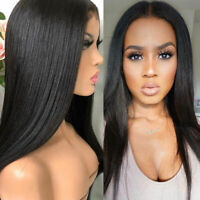 Glueless Straight Lace Front-Full Lace Wigs Pre-Plucked Human Hair Wig Baby Hair
