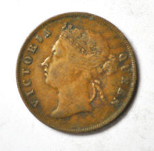 1900 1c Straits Settlement One Large Cent Bronze Coin KM#16