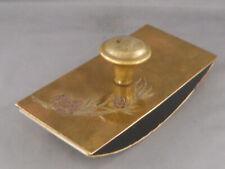 Vintage Rolling Blotter--Brass-engraving on top