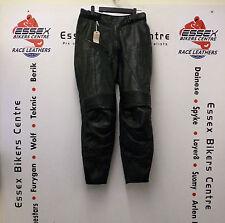 Alpinestars Femme noir pantalon cuir moto bat pantalon 46 l'UE UK 14