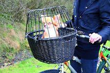 Trixie cesta para bicicleta negra con rejilla