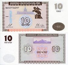ARMENIA 10 Dram Banknote World Paper Money UNC Asia Currency BILL p33 1993 Note