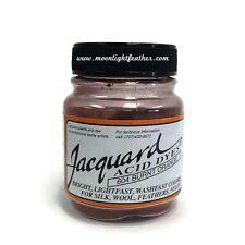 1/2 Oz Burnt Orange Jacquard Acid Dyes Feathers silk Wool alpaca non-bleeding