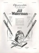 ▬► PUBLICITE ADVERTISING AD Stylo plume JIF WATERMAN 1939 encre