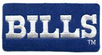 "BUFFALO BILLS NFL FOOTBALL VINTAGE 3.5"" RECTANGLE TEXT LOGO TEAM PATCH"