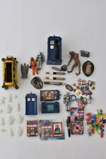 2x Boxes Of Doctor Who Collectable Figurines, Memorabilia, Pen, Badges & More