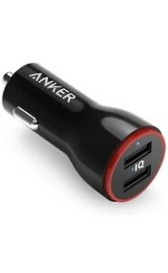 Anker PowerDrive 2 (24W / 4.8A 2-Port USB Car Charger) iPhone/Samsung/Bluetooth