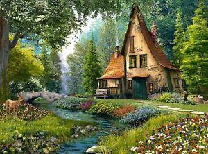 New 2000 pcs pc Puzzle jigsaw Castorland Toadstool Cottage  C-200634