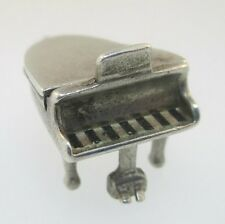 Piano 3D Charm Sterling Silver Vintage Movable
