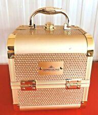 Impressions Vanity Company Gold sparkle Travel Cosmetics / Makeup Box