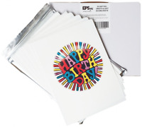 NEW! EPS Edible Icing Sheets Smooth and Light -  Blank, Plain A4 for Printing