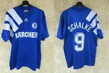 Maillot SCHALKE 04 n°9 1994 1995 vintage ADIDAS trikot oldschool jersey home L