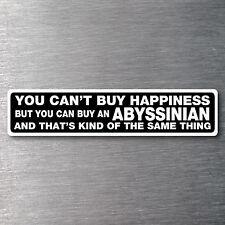 Buy an Abyssinian sticker quality 7 yr water & fade proof vinyl cat breed kitten